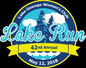The Lake Oswego Lake Run 2018 logo