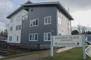 The front of Pomeroy Place apartments