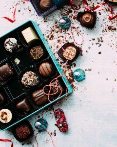 a box of chocolate truffles