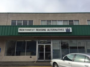 The front of Northwest Housing Alternatives' temporary space