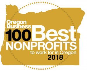 Oregon Business 100 Best Nonprofits to Work for 2018 logo