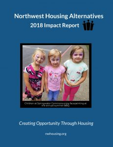 The cover of Northwest Housing Alternatives' 2018 Impact Report