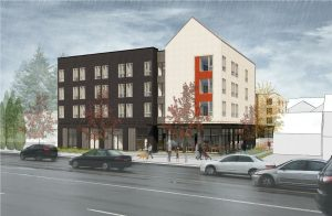 An architectural rendering of Gateway Workforce Housing