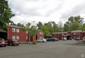 River Glen apartments and parking lot