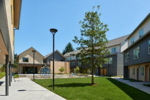 A photo of the Northwest Housing Alternatives campus including the Annie Ross House family emergency shelter.