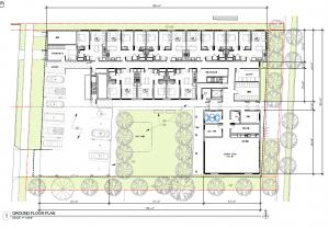 architectural schematic floor plan