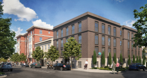 Architectural rendering of the future Susan Emmons affordable housing project