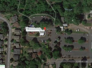 An aerial view of the Tigard Senior Center