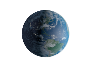 aerial view of planet Earth